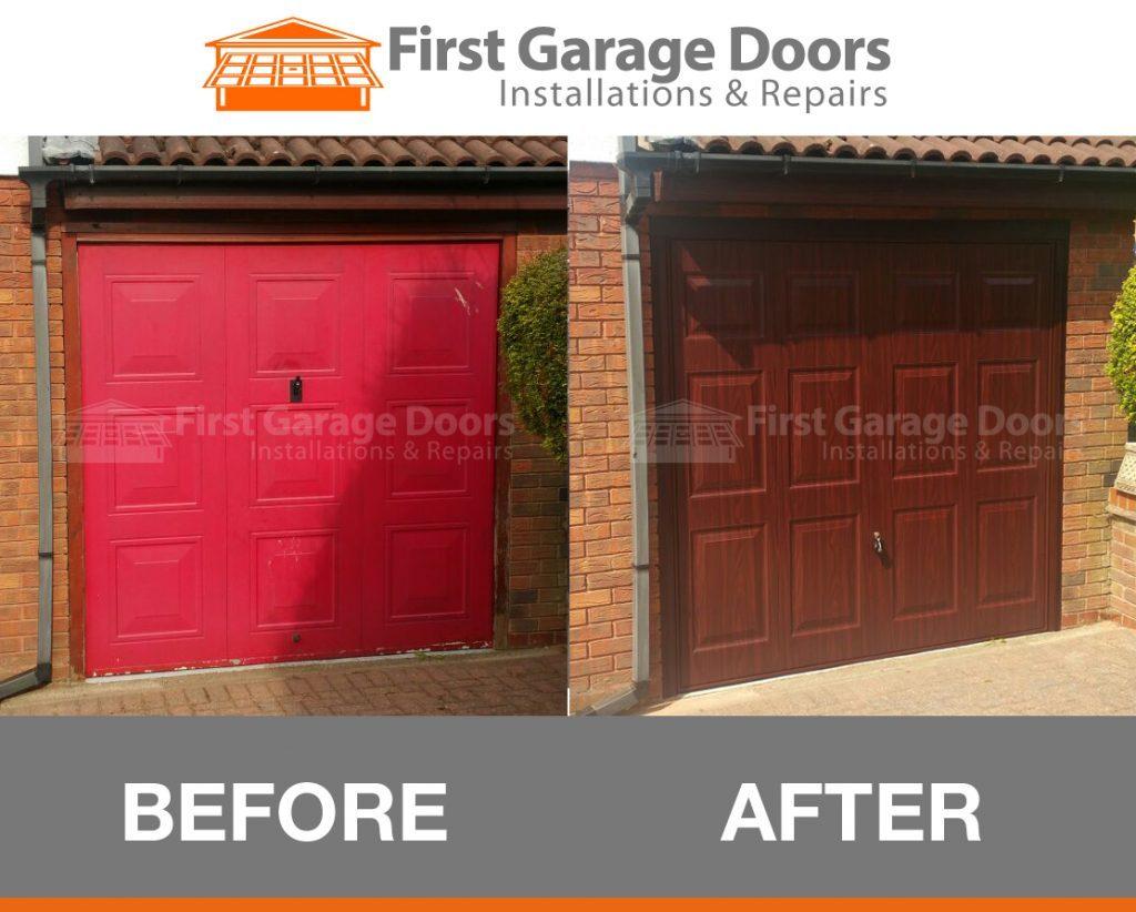 New Hormann Wrose Wood Garage Door Fitted First Garage Doors